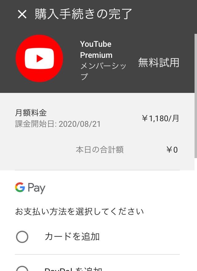 プレミアム 支払い 方法 youtube