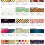 カラフルなパターンの背景素材画像をまとめたサイト「COLOUR lovers」