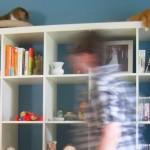 IKEAのExpeditを解体→引越→再組立。 一緒に新居へ持っていきました。
