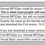 mp3ファイルの音量を変更できるツール「mp3gain」
