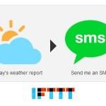 IFTTT連携で毎朝、今日の天気と気温をSMS通知してくれるようにしてみた